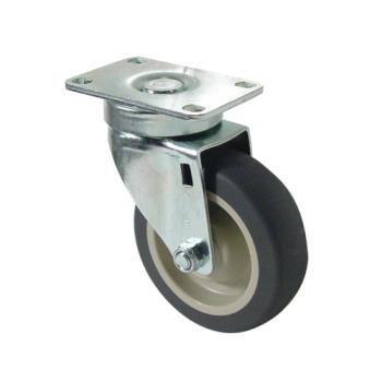 35540 - CHG - CMP1-4PPB - Heavy Duty Swivel Plate Caster w/ 4 in Wheel Product Image