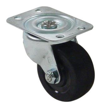 35410 - Commercial - 100 lbs Swivel Plate Caster With 2 in Wheel Without Brake Product Image