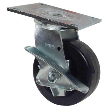 35122 - Commercial - 5 in Swivel Plate Caster w/ Brake Product Image