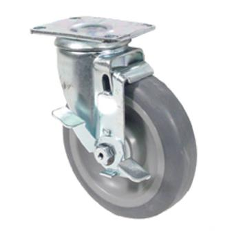 35585 - Commercial - Extra Heavy Duty Swivel Plate Caster With 5 in Wheel and Brake Product Image