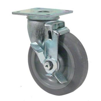35552 - Commercial - Heavy Duty Swivel Plate Caster With 5 in Wheel and Brake Product Image