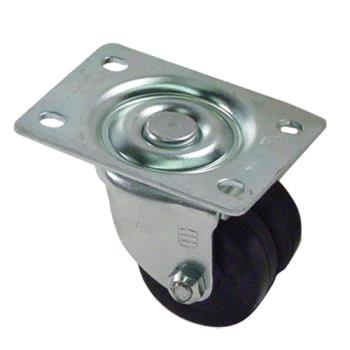 35411 - Commercial - Swivel Plate Caster With Dual 2 in Wheel Product Image
