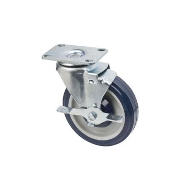 FCPFPCST2X35 - Focus - FPCST2X35 - 2 3/8 in x 3 5/8 in Universal Rectangle Plate Caster Set with Brakes Product Image