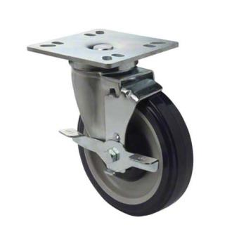 FCPFPCST5HD - Focus - FPCST5HD - 4 in x 4 in Heavy Duty Universal Plate Caster Set with Brakes Product Image