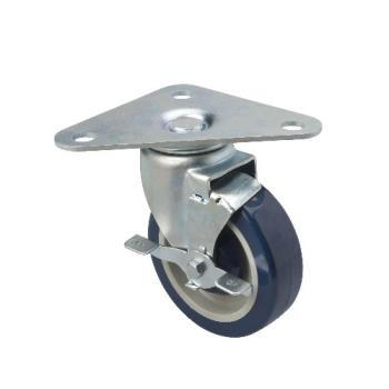FCPFPCTR5 - Focus - FPCTR5 - 5 in Heavy Duty Triangle Plate Caster Set with Brakes Product Image