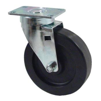 "35105 - Kason - 6C525001HDP - Plate Mount Caster w/ 5"" Wheel Product Image"