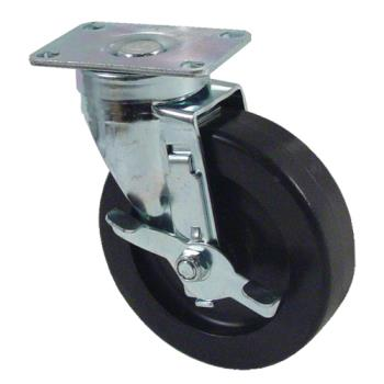 "35106 - Kason - 6C525001HDPTLB - Plate Mount Caster w/ 5"" Wheel & Brake Product Image"