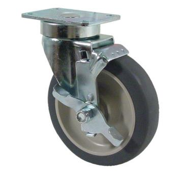 35561 - Kason - 6C525001PPPGTLB - Heavy Duty Swivel Plate Caster w/ 5 in Wheel and Brake Product Image