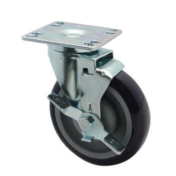 35125 - Krowne - 28-111S - Universal Swivel Plate Caster With 5 in Wheel Product Image