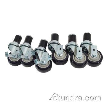 "35778 - Commercial - 1 5/8 in Expanding Stem Caster Set of 6 w/ 3"" Wheels Product Image"