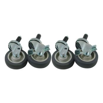 35807 - Commercial - 1 in Expanding Stem Caster Set with  4 in Wheels Product Image