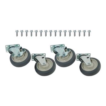 35792 - Commercial - K-35792 - 1000lb Capacity Heavy Duty Swivel Plate Caster Set with 5 in Wheels Product Image