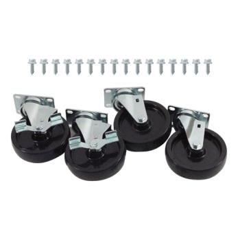 35812 - Commercial - 1000lb Load Capacity Swivel Plate Caster Set with  5 in Wheels Product Image