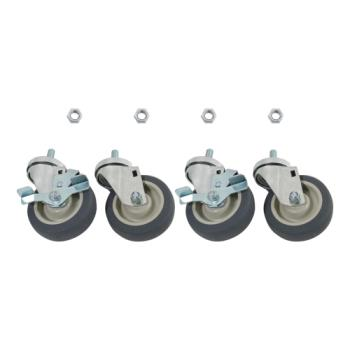35801 - Commercial - 5/8 in Threaded Stem Caster Set with  5 in Wheels Product Image