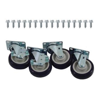 35811 - Commercial - Heavy Duty Swivel Plate Caster Set with  4 in Wheels Product Image