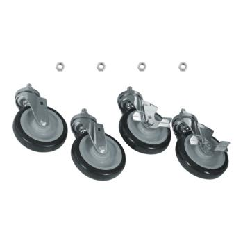 35799 - Commercial - 1/2 in Threaded Stem Caster Set with  5 in Wheels Product Image