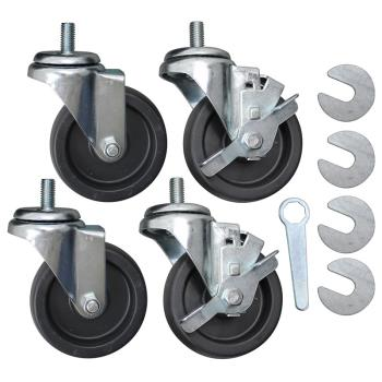 8009561 - Allpoints Select - 8009561 - 4 in Threaded Stem Caster Set Product Image