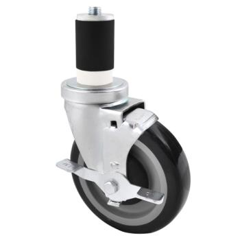 13107 - BK Resources - 5SBR-RA-PLY-PS4 - 5 in Swivel Stem Caster Set Product Image