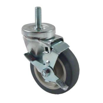 35757 - CHG - CMT1-4PBB - 1/2 in Threaded Stem Caster w/ 4 in Wheel & Brake Product Image