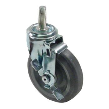 "35785 - Commercial - 5/8"" Threaded Stem Caster w/ 5"" Wheel & Brake Product Image"
