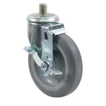 35752 - Commercial - 5/8 in Threaded 3/4 in High Stem Caster With 5 in Wheel and Brake Product Image