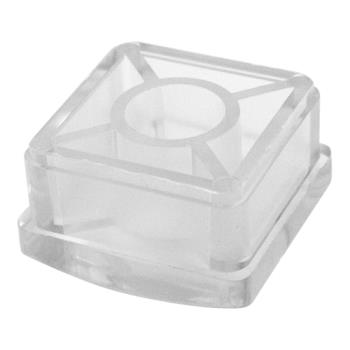 Commercial 1 1 4 Square Plastic End Cap For 18 Gauge