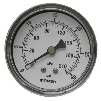 621000 - Commercial - 0 - 30 PSI Dual Scale Pressure Gauge Product Image