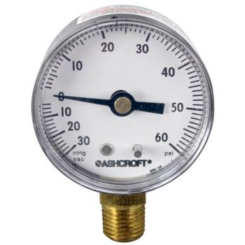 621001 - Commercial - 099156 - (-30) - 60 PSI Bottom Connection Pressure Gauge Product Image