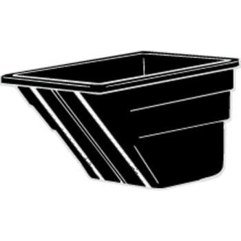 RUBFG1025L1BLA - Rubbermaid - 1025-L1 - 1 1/2 cu yd Black Tilt Truck Body Product Image