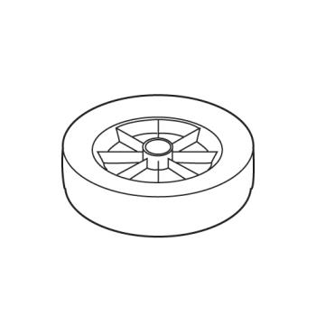 RUBFG1025L60000 - Rubbermaid - 1025-L6 - 12 in Tilt Truck Soft Rubber Molded Wheel Product Image