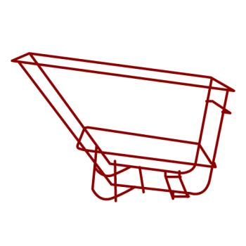 RUBFG1026L5RED - Rubbermaid - 1026-L5 - 1 1/2 cu yd Heavy Duty Red Tilt Truck Frame Assembly Product Image