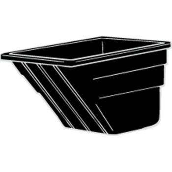 RUBFG1035L1BLA - Rubbermaid - 1035-L1 - 2 cu yd Black Tilt Truck Body Product Image
