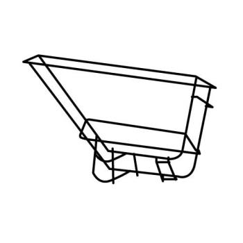RUBFG1045L5BLA - Rubbermaid - 1045-L5 - 2 1/2 sq yd Black Frame Assembly Product Image