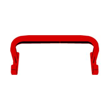 RUBFG1305L4RED - Rubbermaid - 1305-L4 - Red Tilt Truck Handle Product Image