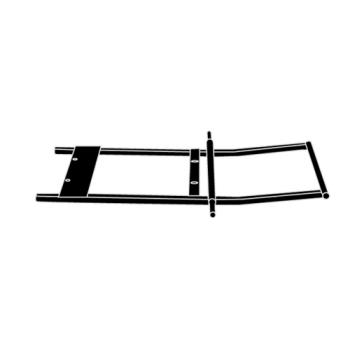 RUBFG1315L2BLA - Rubbermaid - 1315-L2 - 1 sq yd Black Tilt Truck Frame Product Image
