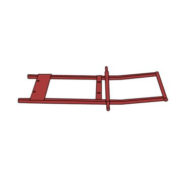 RUBFG1315L2RED - Rubbermaid - 1315-L2 - 1 sq yd Red Tilt Truck Frame Product Image