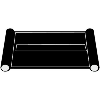 RUBFG3421L5BLA - Rubbermaid - 3421-L5 - Utility Cart End Panel - Black Product Image