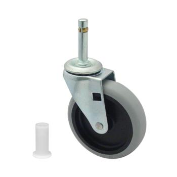 35112 - Rubbermaid - 3424-L6 - 4 in Triple Trolly Swivel Caster with Insert Product Image