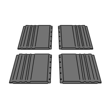 RUBFG4092L1GRAY - Rubbermaid - 4092-L1 - Gray Utility Cart Side Panel Kit Product Image