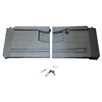 RUBFG4094L1LGRAY - Rubbermaid - 4094-L1 - Gray Utility Cart Door Kit with Lock Product Image