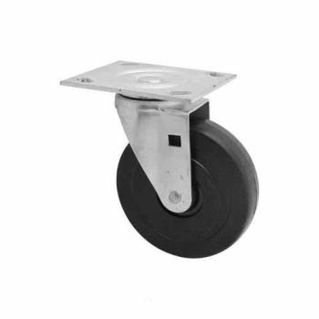 35163 - Rubbermaid - 4402-L1 - 5 in Platform Truck Rubber Swivel Caster Product Image
