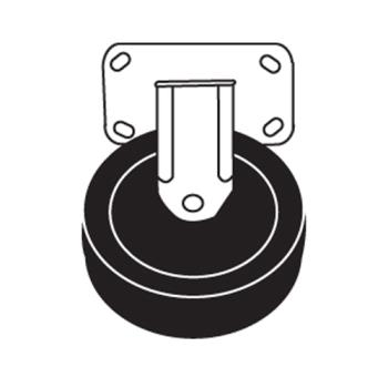 RUBFG4402L20000 - Rubbermaid - 4402-L2 - 5 in Platform Truck Rubber Rigid Caster Product Image