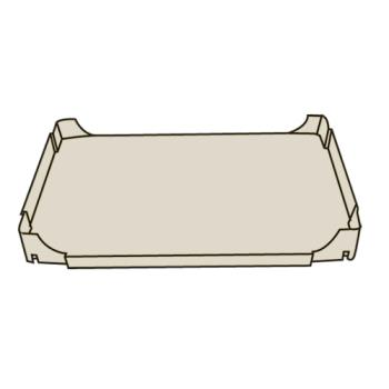 RUBFG4505L2BEIG - Rubbermaid - 4505-L2 - Beige Utility Cart Bottom Shelf Product Image