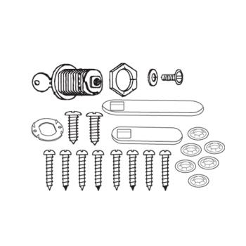 RUBFG4512L60000 - Rubbermaid - 4512-L6 - TradeMaster® Cart Door Hardware Kit With Lock Product Image