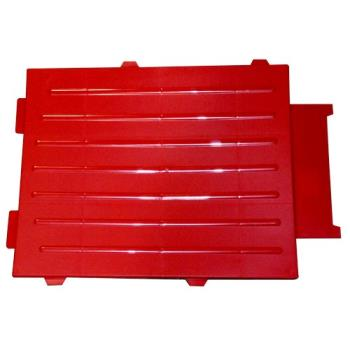 RUBFG4530L2RED - Rubbermaid - 4530-L2 - TradeMaster® Cart Red Medium Back Panel Product Image