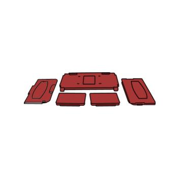 RUBFG6180L7RED - Rubbermaid - 6180-L7 - Red Trades Cart/Cabinet Product Image