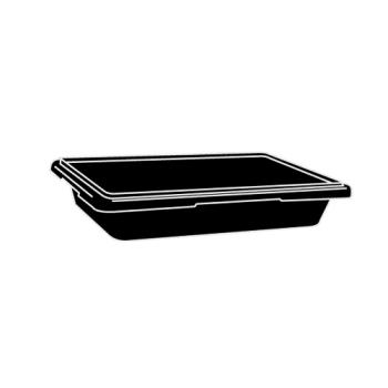 RUBFG6180L9BLA - Rubbermaid - 6180-L9 - Black Storage Bin Product Image