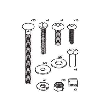 RUBFG6189L10000 - Rubbermaid - 6189-L1 - Housekeeping Cart Hardware Kit Product Image