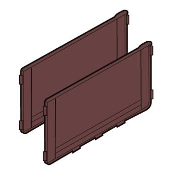 RUBFG6189L2BRN - Rubbermaid - 6189-L2 - Brown Back Panel Kit Product Image