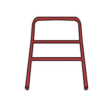 RUBFG7907L1RED - Rubbermaid - 7907-L1 - Red Handle with CrossBar Product Image